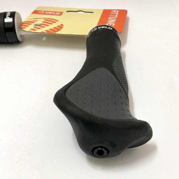Velo Attune SHORT Triple Density Gel Anatomic Bicycle Grips for Twist//Grip Shift